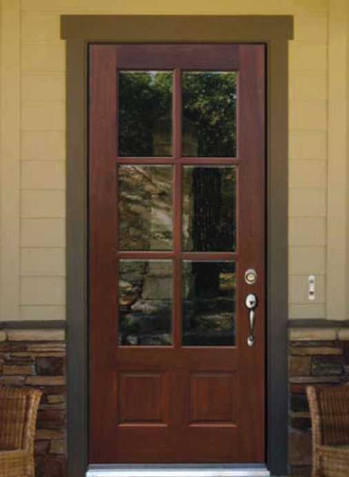 Home entrance door wood exterior doors with glass for Door with light