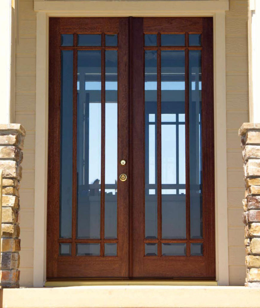 Exterior doors custom and stock homestead interior doors for Glass door in front of front door