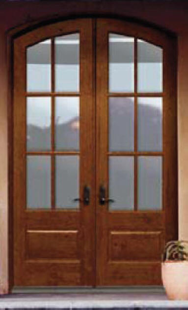Exterior doors custom and stock homestead interior doors for Exterior double doors with glass