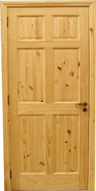 Knotty_Pine_Doors_6_Panel. Shown Unfinished Knotty Pine I Series  Traditional 6 Panel Doors With ...