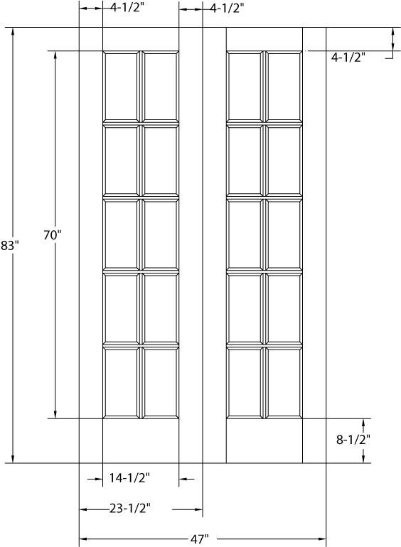 Poplar 12 Lite True Arch Double Doors