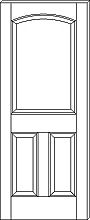 RP-3090 3-Panel Arch-Top Door