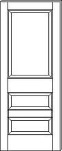 RP-3130 3-Panel Door line drawing