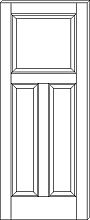 RP-3240 Traditional 3-Panel Door