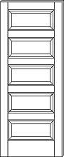 RP 5000 Horizontal 5 Panel Door