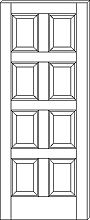 RP 8000 8 Panel Door