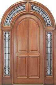 Mahogany Exterior Entryway with 4-Panel Door and 226 Surround