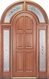 Exterior Mahogany Door - Round Top 223 Full Surround