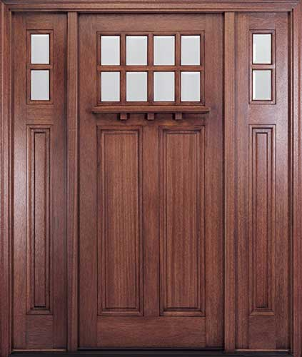 Attirant MIAHTC500 Craftsman Front Door With Optional Matching Sidelites And Dentil  Shelf
