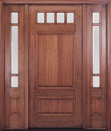 Craftsman style front doors entry doors exterior doors for Mahogany entry doors
