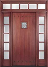MIAHTC800 Craftsman Style Exterior Door with Optional Matching Sidelites and Transom