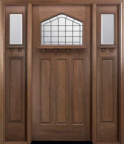 MIAWP702G Craftsman Style Front Door With Optional Dentil Shelf