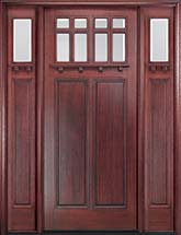 MIAWP900G Craftsman Style Exterior Door with Optional Matching Sidelites and Transom