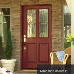 RV-4544 Primed Exterior Doors with Tiara Glass and Patina Caming