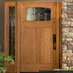 RV-4912 White Oak Exterior Door with 4901-C Sidelite adn Traditions Glass