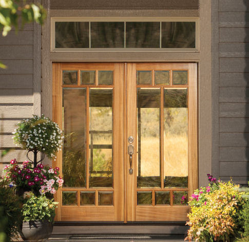 Wood exterior doors photo gallery homestead doors the for Natural wood front door