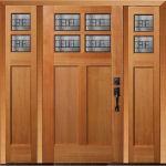 RV-4462 Douglas Fir Exterior Door with 4462 Sidelites and Prairie Glass