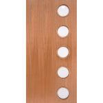 mcm-0 1950s contemporary exterior mahogany door circular glass