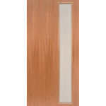 mcm-1 1950s contemporary narrow light exterior mahogany door