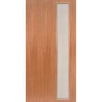mcm-1 1950s contemporary narrow light exterior mahogany door