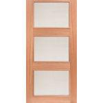 mcm-3 1950s contemporary 3-light exterior mahogany door