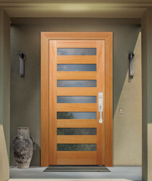 Wood exterior doors photo gallery homestead doors the for Insulated entry door