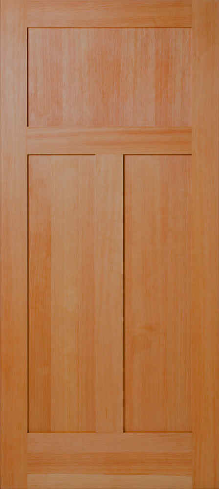 Vertical Grain Douglas Fir Mission 3 Panel Flat Panel