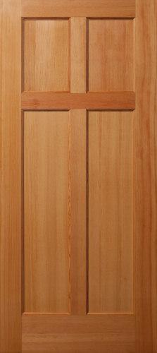 Vertical Grain Douglas Fir Reverse 4 Panel Interior Wood
