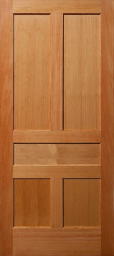Delightful Vertical Grain Douglas Fir 5 Panel Interior Wood Door