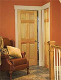 Rustic Pine Interior 6-Panel Door