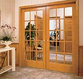 15-Lite Oak French Interior Doors