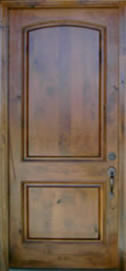 knotty alder raised 2panel archtop rustic interior door