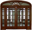 Homestead Cherry Double Exterior Wood Door