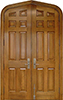 Homestead Series White Oak Gothic-Top Exterior Wood Doors