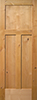 Knotty Alder Flat 3-Panel Interior Door