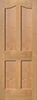 Alder Eyebrow 4-Panel Interior Door
