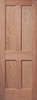 Cherry Veneered 4-Panel Mission Interior Door
