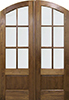 Walnut TDL 6-Light Double Exterior Wood Door