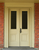 Williamsburg Style Glass-Panel Exterior Wood Door