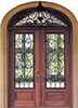 Wrought Iron Double Exterior Wood Doors
